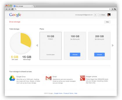 Google ストレージ